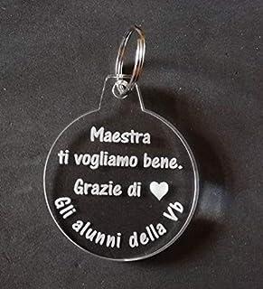 PORTACHIAVE Idea regalo MAESTRA Portachiavi in plexiglass personalizzabile Dono unico ed originale di fine anno scolastico