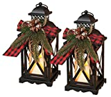 Anderson's Christmas Decorative Lantern Set, 10 1/2 Inches, Holiday Decorations