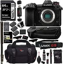 Panasonic Lumix G9 Mirrorless Camera Body 20.3 MP G9KBODY, Panasonic G9 Vertical Battery Grip, Polaroid 64GB High Speed SD Card U3, 72