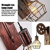Wandleuchte E27 Vintage Wandlampe Retro Wandbeleuchtung Kreative Beleutung für Treppenhaus Flur Cafe Bar Restaurant Hotel (Bronze) - 2