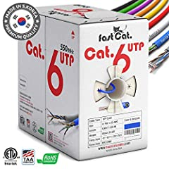 READY FOR A TRUE CABLE UPGRADE? It may seem like all 1000ft Cat 6 ethernet cable is created equal, but most engineers agree the small, time saving details make all the difference – like rolling cable out of the box smoothly without snags, plastic cor...