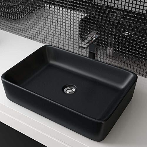 Waschbecken24 DESIGN KERAMIK WASCHTISCH AUFSATZWASCHBECKEN HANDWASCHBECKEN BAD GÄSTE WC TOP A97SM