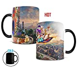 Disney - Aladdin - Princess Jasmine - A Whole New World - Thomas Kinkade - One 11 oz Morphing Mugs Color Changing Heat Sensitive Ceramic Mug – Image Revealed When HOT Liquid Is Added!