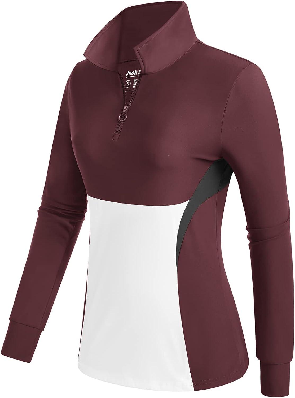 JACK SMITH Women's Golf Polo Sleeve Cheap bargain Long Shirts Moisture Wicking Daily bargain sale