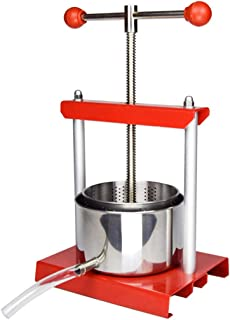 1.6 Gal Fruit Wine Press - 100% Natural Juice Making for Apple/Carrot/Orange/Berry/Vegetables,Food-Grade Stainless Steel Cheese&Tincture&Herbal Press