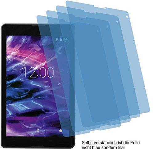 4ProTec I 4X Crystal Clear klar Schutzfolie für Medion LifeTab P8524 P8513 P8514 Premium Bildschirmschutzfolie Displayschutzfolie Schutzhülle Bildschirmschutz Bildschirmfolie Folie
