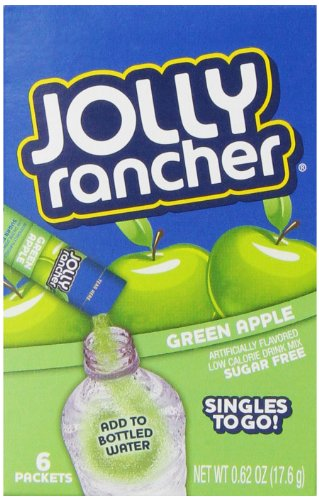 Jolly Rancher Singles to Go Water Drink Mix, Green Apple Flavored Powder Sticks, (12 Boxes with 6 Packets Each - 72 Total Servings)