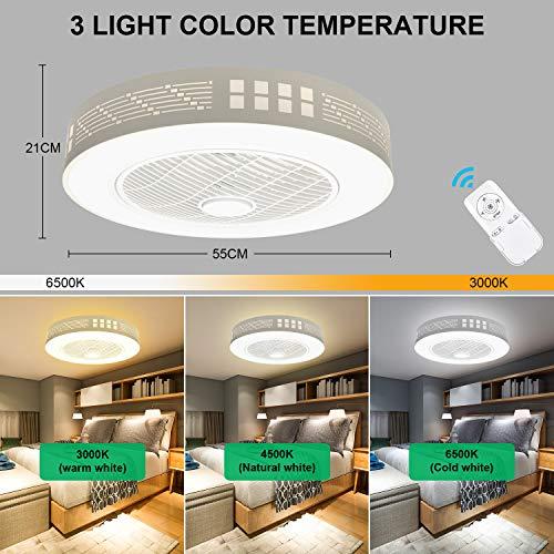 LEDMO Ventilatore a Soffitto con Lampada, Ventilatore da soffitto Moderno creatività con Telecomando Ventilatore a Soffitto a LED Ultra-Silenzioso Infinito dimmerabile