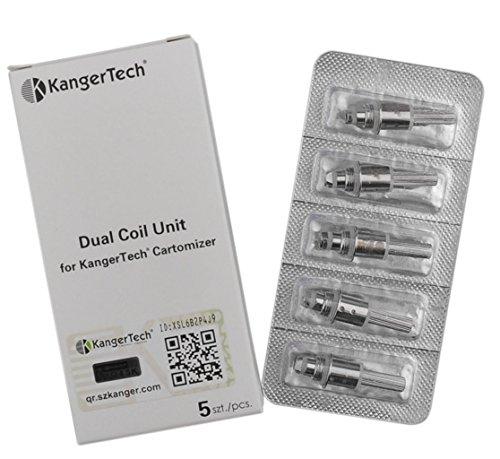 Kanger 5 x Upgrade Dual Coils Protank 3 Mini Aerotank V2 T3D Köpfe ohne Nikotin