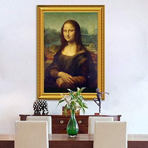 Klassieke Olieverf Leonardo Da Vinci De Mona Lisa Smile Canvas Print Schilderij Posters Muur Foto Voor Woonkamer Home Decor C 30x37 cm Geen Frame