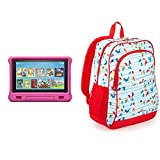 Fire HD 10 Kids Tablet 32GB Pink with Amazon Exclusive Kids Tablet Backpack, Birds