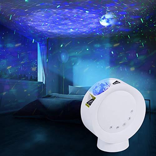 LED Sternenhimmel Projektor Galaxy Nachtlicht Lampe Fernbedienung mit 9 Beleuchtung Modi, 300° Einstellbar, Dimmbares Ambientelicht für Kinder Schlafzimmer Dekoration Party