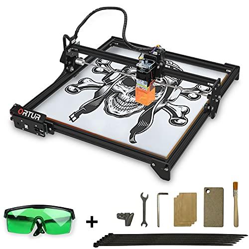 ORTUR Laser Master 2, graveur laser CNC, machine de découpe à gravure laser, marquage laser bricolage pour métal avec carte mère 32 bits LaserGRBL (LightBurn), grande zone de gravure 400x430mm (LU2-4)