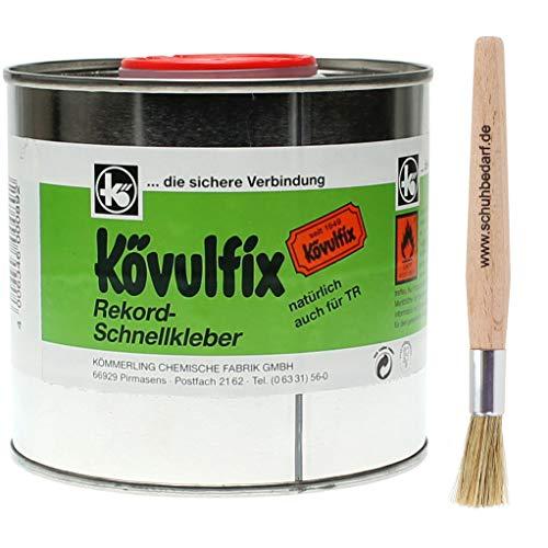 Kömmerling Kövulfix Rekord Schuhkleber Absatzkleber mit Auftragspinsel Langlauf Schuhbedarf® (300 Gramm)