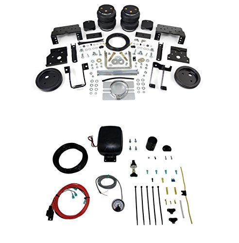 Airlift 88396 25850 Set of Rear LoadLifter 5000 Ultimate Series with Load Controller Single Path On-Board Air Compressor System Kit for Ford F-250 F-350 F-450 Super Duty