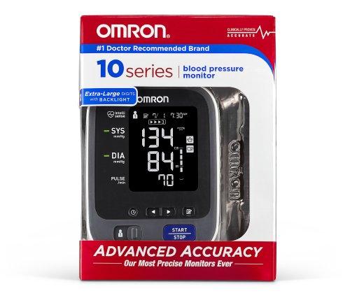 Omron 10 Series Upper Arm Blood Pressure Monitor; 2-User, 200-Reading Memory, Backlit Display, TruRead Technology, BP Indicator LEDs byOmron