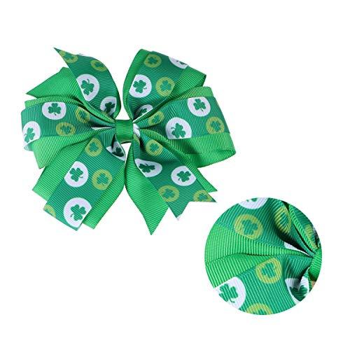 Amosfun 1 Paire de Cheveux de Jour de la St Patrick arcs Shamrock Pinces à Cheveux Enfants Enfants faveur de la St Patrick (Vert)
