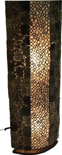 Guru-Shop Stehlampe/Stehleuchte, in Bali Handgemacht aus Naturmaterial, Lavastein, Bambus - Lava Bamboo 150 cm, Stehleuchten aus Naturmaterialien