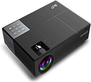 """MO C77 LED Cinema Projector Full HD Native 1920*1080P 5000 Lumens, 5000:1 Contrast, 300"""" Screen Home Theater ±50° 4D Keyst..."""