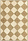 HAMID - Alfombra Yute Somara Color Blanco y Natural - Alfombra 100% Fibra de Yute (230x160cm)