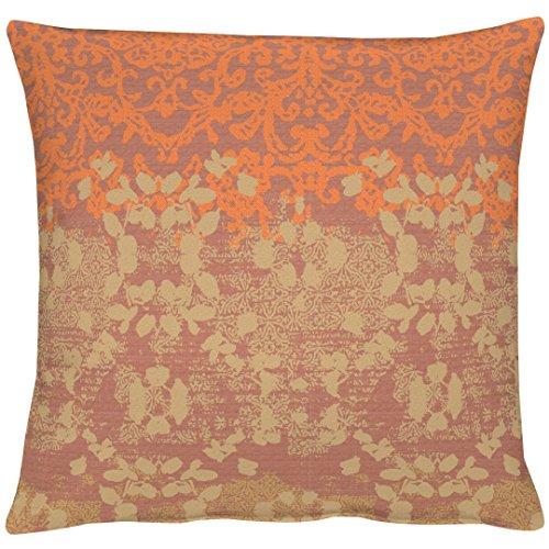 APELT Tilda_49x49_60 Kissenhülle, Polyester, orange, 49 x 49 x 0.5 cm
