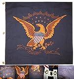 MWS 38x38 Embroidered USCT Eagle E Pluribus Unum Cotton Flag 38'x38' Premium Quality Indoor Outdoor Pole Pennant (New)