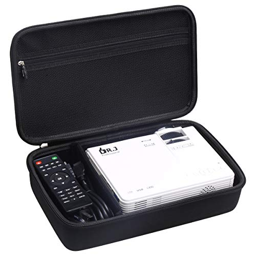 Aproca Hard Travel Storage Case Fit DR.J Professional HI-04 Mini Projector (Black)