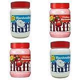 Durkee Marshmallow Fluff 4 Pack - 2 x Original Vanilla - 2 x Strawberry