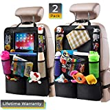 Spectre Car Organizers - Helteko Backseat Car Organizer - Kick Mats Back Seat Protector with 10
