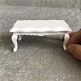 Tensay DIY 1:12 Miniatur Puppenhaus Zubehör Möbel Teetisch Couchtisch Wohnzimmer, beste Geschenk...