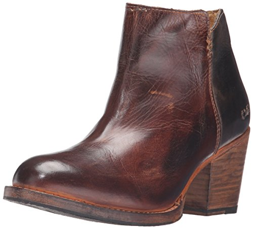 BED STU Women's Yell Boot, Teak/Black Rustic Rust, 7 M US