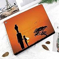 新しい iPad Pro 11 ケース (2018モデル)スタンド機能 iPad Pro 11 インチ (2018新型) 保護カバー 軽量 薄型 シンプル 2つ折タイプ 全面保護型 傷つけ防止 iPad pro 11手帳型 (iPad pro 11 (2018))サバンナ砂漠夜明けケニア自然画像を歩いて夕暮れ時の子供と母親