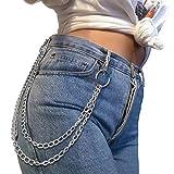 ZOYLINK Punk Damen Hosenkette, Jeanskette Brieftasche Kette Mode Hip Hop Kette Geldboerse Kette für Damen
