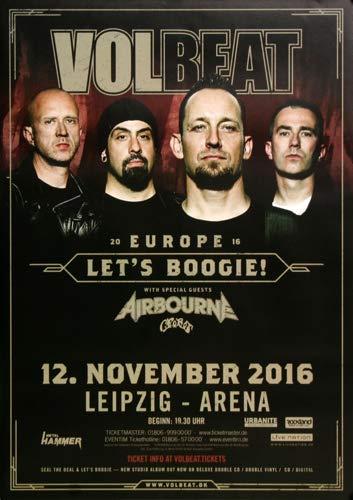 Volbeat - Let`s Boogie, Leipzig 2016 » Konzertplakat/Premium Poster | Live Konzert Veranstaltung | DIN A1 «