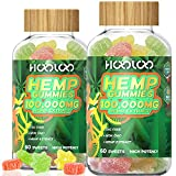 (2 Pack) Hemp Gummies, HOOLOO 100,000MG Natural Hemp Gummy for Relaxing, Sleep Better, Reduce Stress Anxiety, Fruity Hemp Extract Gummies, Made in USA