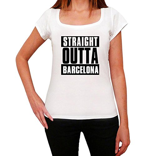 One in the City Straight Outta Barcelona, Camiseta para Mujer, Straight Outta Camiseta, Camiseta Regalo