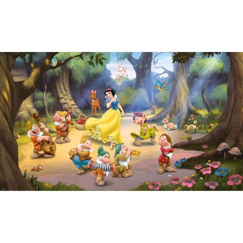RoomMates Princess Snow White And The Seven Dwarfs Removable Wall Mural - 10.5 feet X 6 feet
