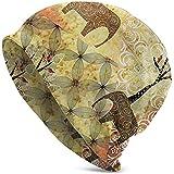 Gorros Unisex Gorros Elefantes Grunge Africanos Rosas Cráneo Gorro De Tejer Sombrero Cálido Verano Sombreros De Punto para Mujeres Hombres