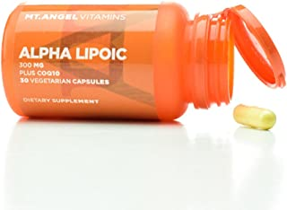 Mt. Angel Vitamins - Alpha Lipoic Plus COQ10 (30 Vegetarian Capsules)