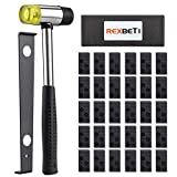 REXBETI Laminate Wood Flooring Installation Kit with 30 Spacers, Upgraded Tapping Block, Pull Bar and Mallet(Black)