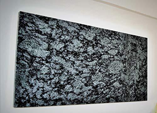 Infrarotheizung Granit Olive Green poliert 300 Watt/TÜV selbstregelnde Steuerelektronik - höhere Speicherkapazität als Alu, Blech, Glas- Wandheizung m. rückseitiger Isolierung - Deutscher Hersteller