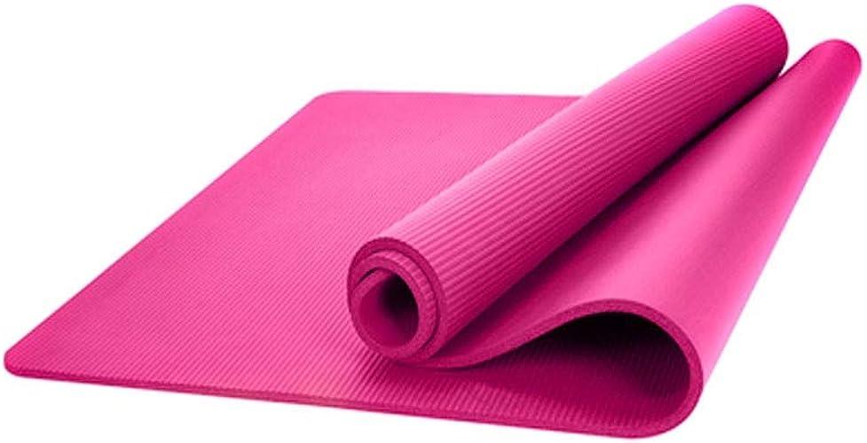 Jiansheng01 Tapis de Yoga, Tapis de Yoga pour Tous Types de Yoga, Design épais et antidérapant, Cadeau (74  24.4 Pouces, épaisseur 10 mm, 15 mm, Rose, Violet) Confortable