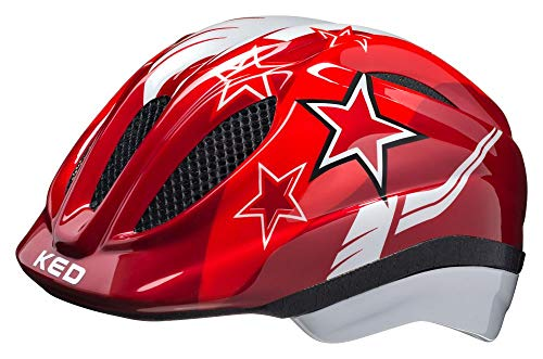 KED Meggy Helm Kinder red Stars Kopfumfang M | 52-58cm 2020 Fahrradhelm