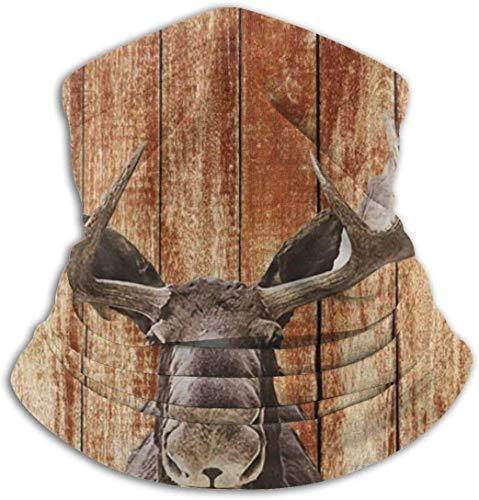 Cathycathy Rustieke houten kas boerderhuisje, uniseks, winddicht, winterhalsmanchet, koud weer, voor mannen en vrouwen