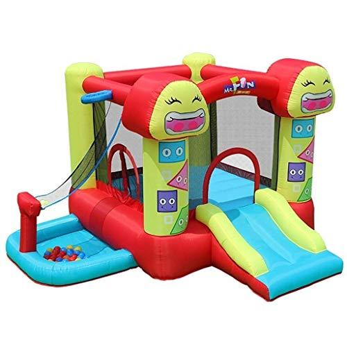 FGVDJ LuoMei Castillo de trampolín Inflable para niños, tobogán de trampolín al Aire Libre, Castillo Inflable, trampolín de Interior, Parque de Atracciones para el ho