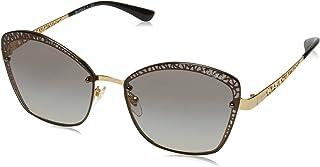 نظارة شمسية معدن بتصميم باترفلاي VO4141S، لون ذهبي/رمادي متدرج، 58 ملم