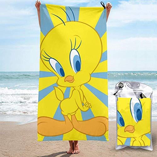 Yuanmeiju Schnelltrocknendes Badetuch Towel Tweety Adult Quick Drying Towel, 31.5 X63 Inches, Super Absorbent Folding Beach Towel