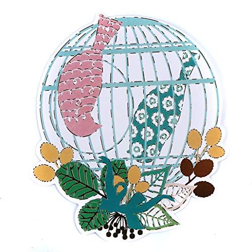 Kaned Bunte Papier-Wimpelkette mit Vogel-Motiv, Party-Banner Heimdekoration, Zubehör für Geburtstag, Hochzeit, Party, Zeremonien