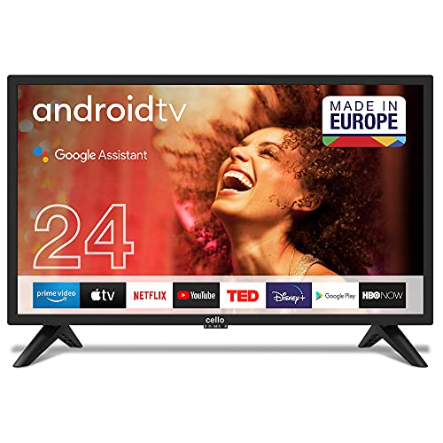 Cello C2420GDE 24' (61 cm Diagonale) SMART Android HD Ready LED TV, Google-Assistent, Google Chromecast, Google Play Store, Prime Video, Netflix
