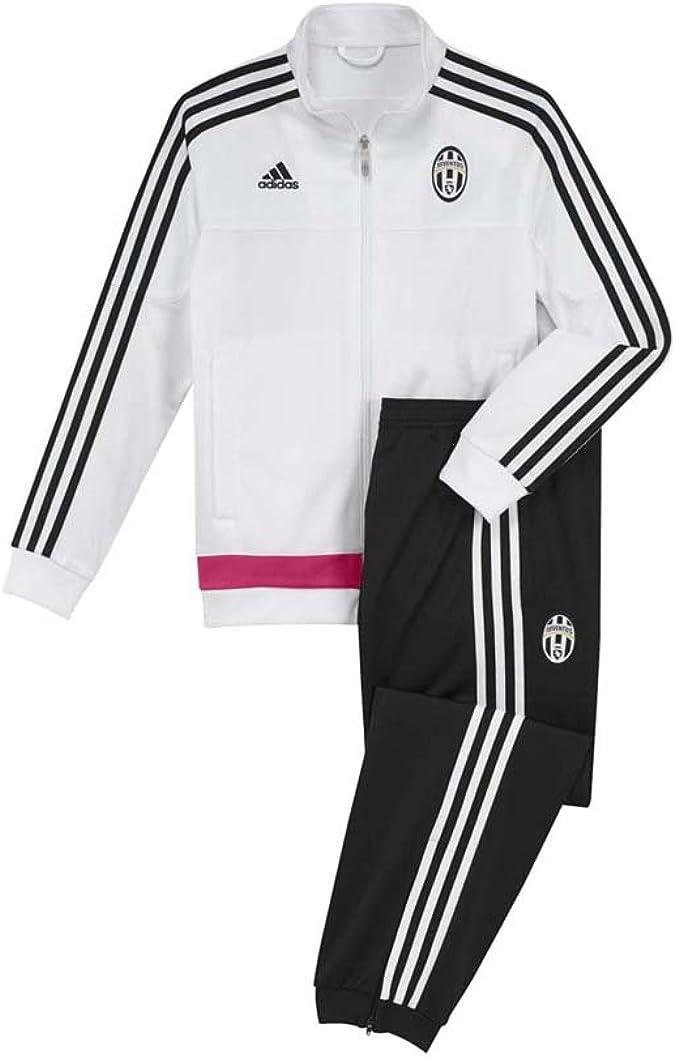 adidas Juve PES - Tuta da Uomo, Colore: Bianco/Nero/Rosa